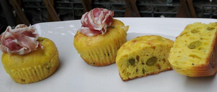 Muffin piselli e curcuma