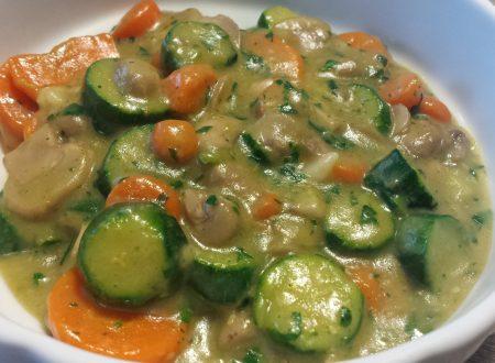 Funghi con carote e zucchine