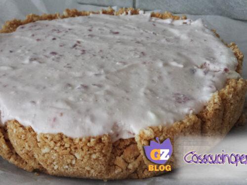 Cheesecake fredda alla confettura di ciliegie