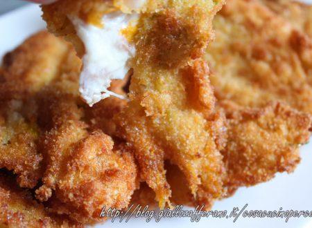 Fiori di zucca farciti con speck e robiola cotti al forno o fritti
