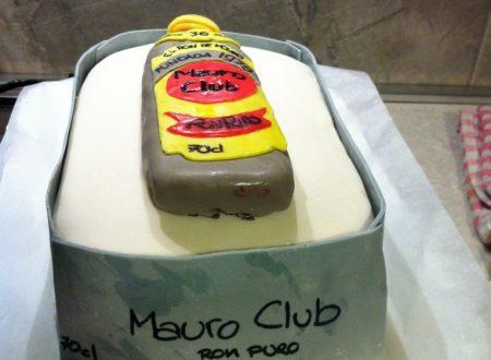 Cake design – Torta di compleanno bottiglia di rum