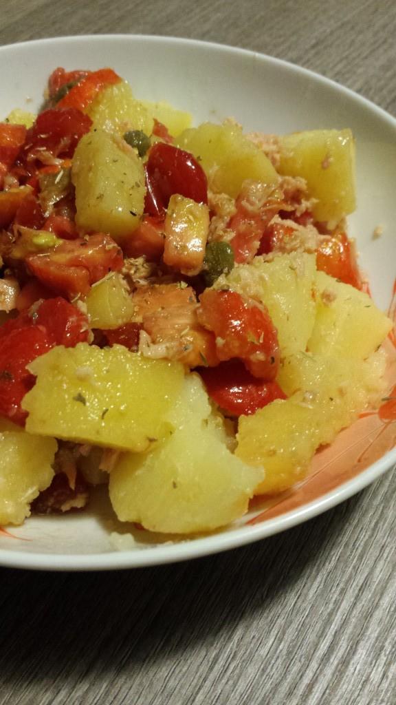 insalata di patate condita