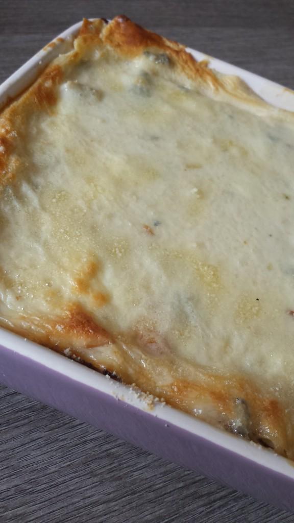 Lasagne formaggiose con pancetta