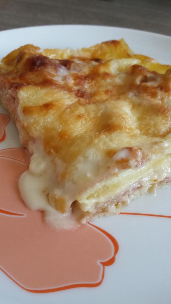 Lasagne bianche con stracchino e prosciutto