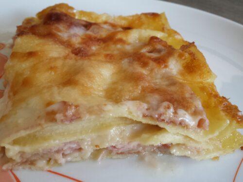 Lasagne bianche al prosciutto cotto