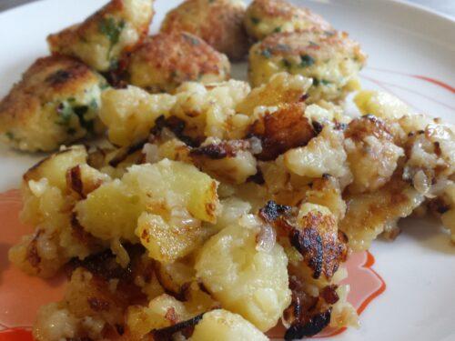 Patate rostie con la zigola – patate arrostite con la cipolla