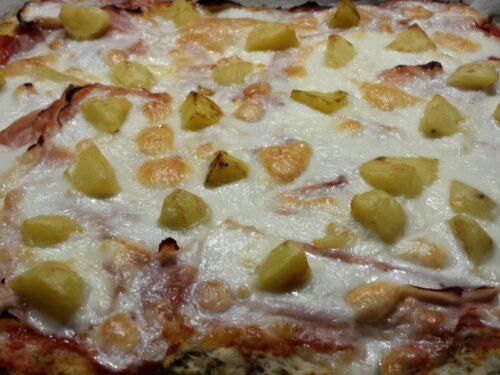 Impasto pizza all'origano – Pizza con patate e prosciutto