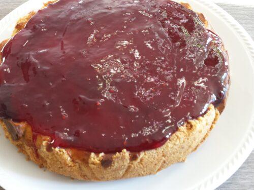 Cheesecake cotta con mascarpone, ricotta e marmellata