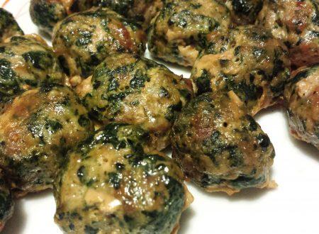 Polpette di carne e spinaci al forno