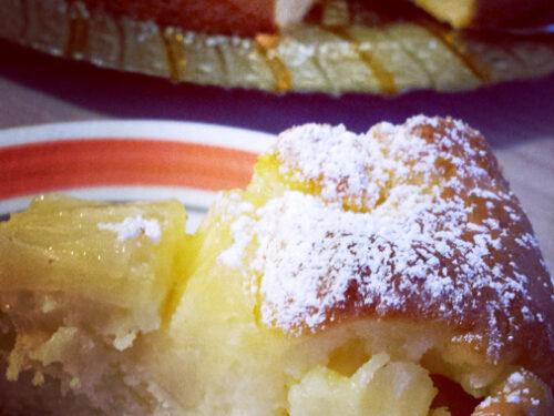 Torta soffice al mascarpone con ananas e crema