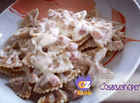 Pasta al kamut con crema di robiola e pancetta