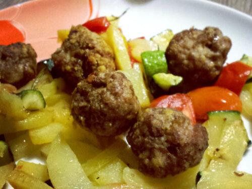 Polpette al forno con verdure