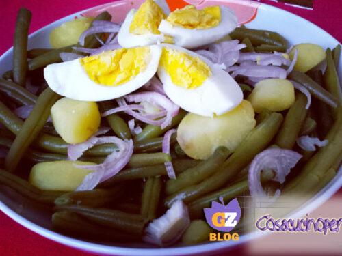 Insalata aromatica di fagiolini e uova