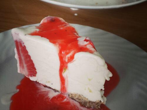 Cheesecake gelato alle fragole