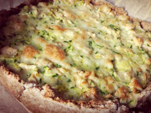 Crostata integrale pollo e zucchine