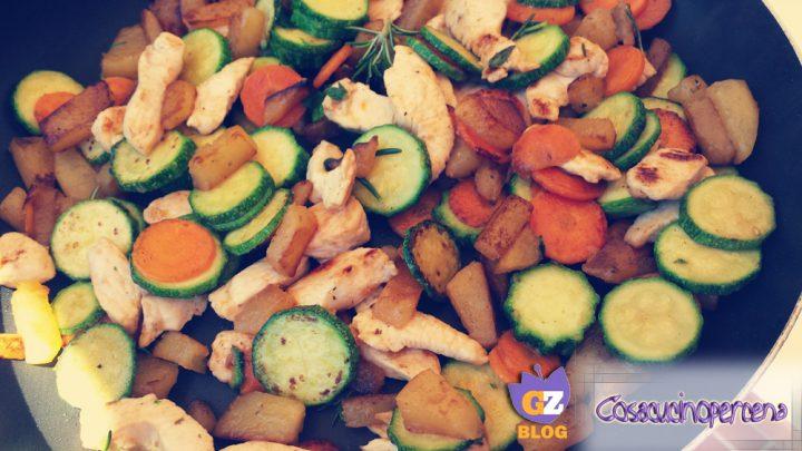 Spadellata di pollo e verdure