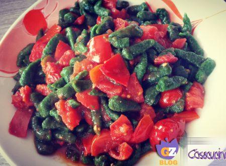 Spatzle di spinaci ai pomodorini