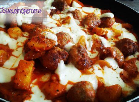 Polpette e patate alla pizzaiola