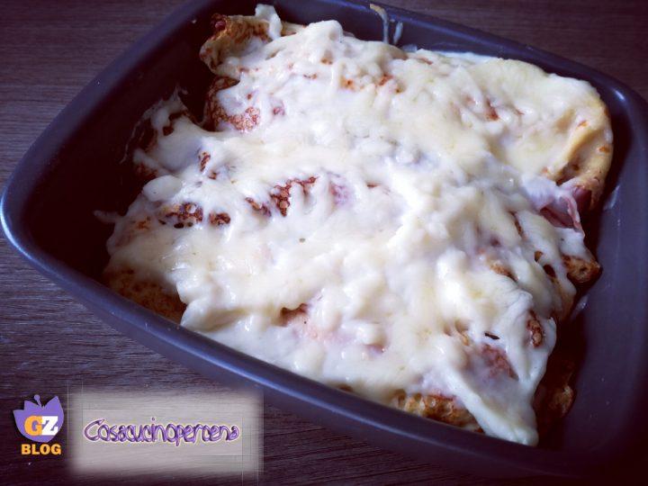 Crepes mozzarella e prosciutto