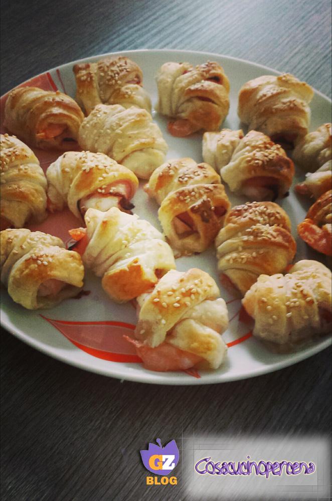Gamberoni sfoglia e pancetta