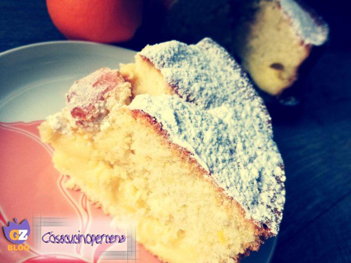 Torta soffice con crema all'arancia