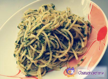 Spaghetti aglio olio e prezzemolo