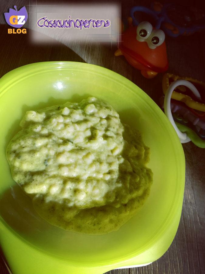 Pasta cremosa alle zucchine per lo svezzamento