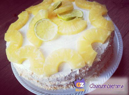 Torta Pinacolada senza lattosio