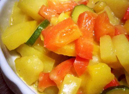 Verdure al latte di cocco e curry