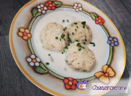 Canederli di Casolét con crema di gorgonzola