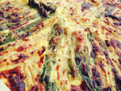 Torta salata di asparagi e speck
