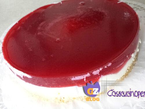 Cheesecake con gelatina di ribes