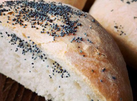 Pane casereccio ai semi di sesamo e papavero