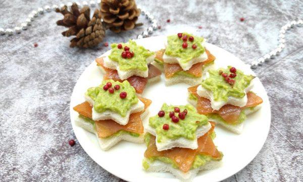 STELLE DI TRAMEZZINI, ricetta sfiziosa natalizia