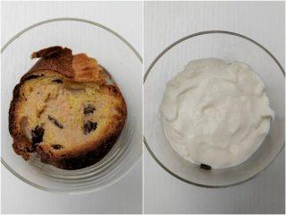 comporre il dolce alternando i pezzi di panettone con la crema