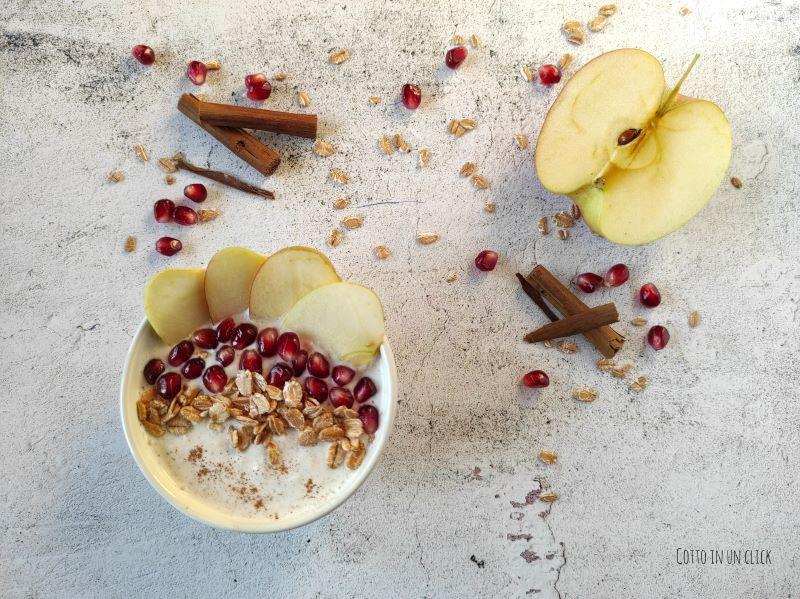 smoothie bowl alla mela e cannella