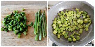 Torta salata con asparagi, prosciutto cotto e stracchino