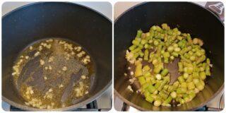 Risotto con asparagi prosciutto crudo e crema di parmigiano