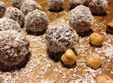 tartufini fondente nocciole cocco