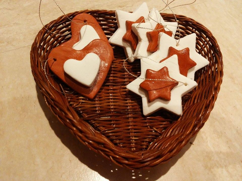 pasta di bicarbonato per decorazioni natalizie