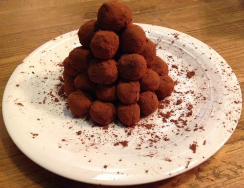 tartufini alla ricotta e cioccolato