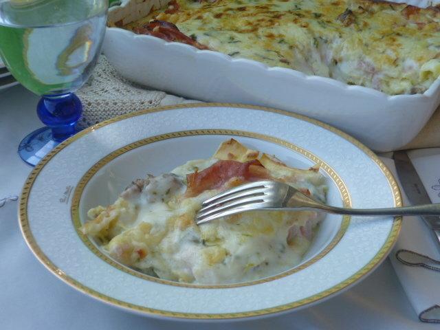 pasticcio di lasagne agli asparagi