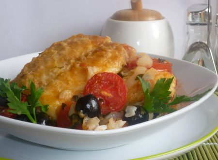 pesce persico con cipolle e olive