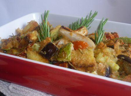 gran misto di verdure gratinate