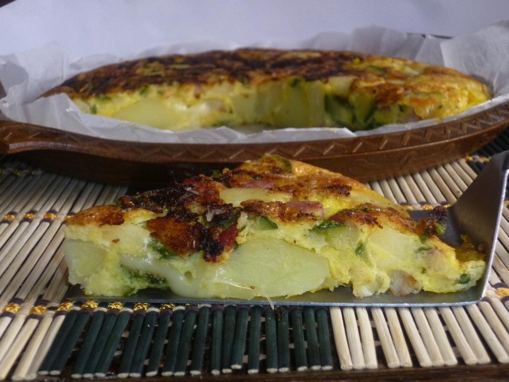 frittata con patate e zucchine