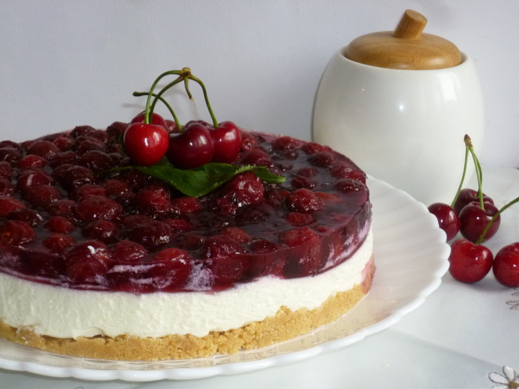 cheesecake golosa alle ciliegie