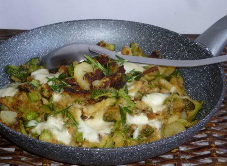 zucchine e patate sabbiose filanti