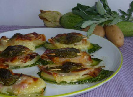 saltimbocca di zucchine e patate