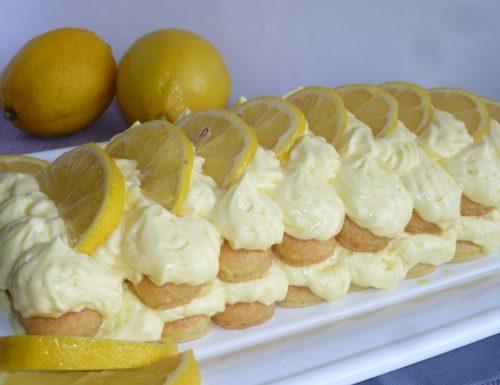 ricetta del tiramisù al limone