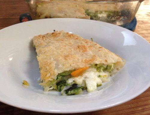 lasagne di crepes alle verdure